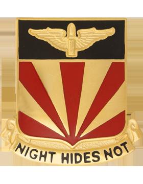 56th Air Defense Artillery Unit Crest (Night Hides Not)