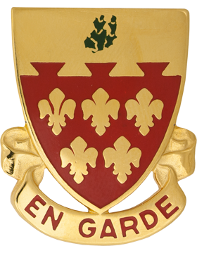 77th Field Artillery Unit Crest (En Garde)