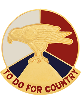 0079 Army Reserve Command Unit Crest Left (To Do For Country)
