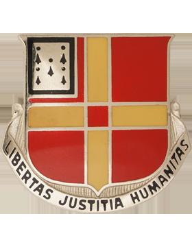 81st Field Artillery Unit Crest (Libertas Justitia Humanitas)