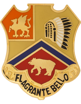 0083 Field Artillery Unit Crest (Flagrante Bello) small