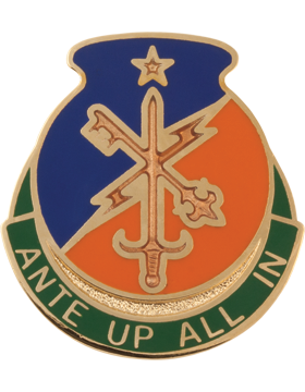 0001 Bde 34 Infantry Div Spl Troops Bn Unit Crest (Ante Up All In)