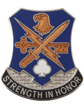 0001 Bde 101 Airborne Special Trps Bn Unit Crest (Strength In Honor)