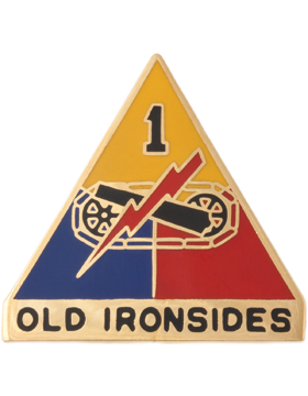 0001 Armored Division Unit Crest (Old Ironsides)