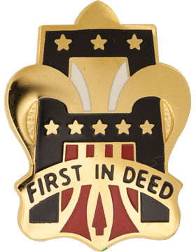 0001 Army Unit Crest (First In Deed)