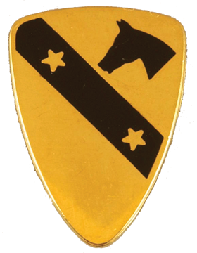 0001 Cavalry Division Unit Crest (No Motto)