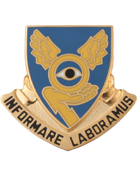 0001 Military Intelligence Bn Unit Crest (Informare Laboramus)