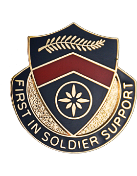 1st Personnel Services Battalion Unit Crest (First In Soldier Support)