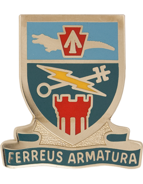 2nd Brigade 28th Infantry Special Troops Battalion Unit Crest (FERREUS ARMATURA)