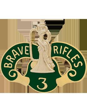 3rd Cavalry Unit Crest (Brave Rifles)