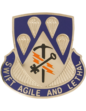 0004 Bde 82 Airborne Special Troops Bn Unit Crest (Swift Agile And Lethal)