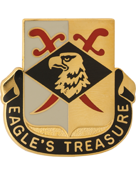 101st Finance Battalion Unit Crest (Eagles Treasure)