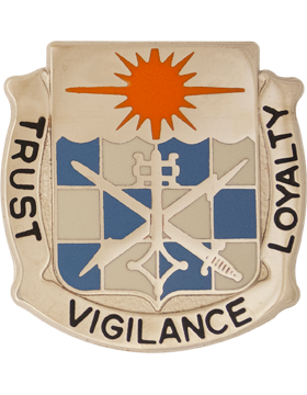 0101 Military Intelligence Bn Unit Crest (Trust Vigilance Loyalty)