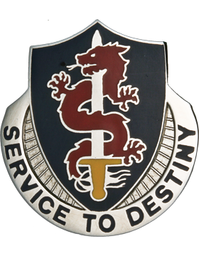 101st Personnel Support Unit Crest (Service To Destiny)
