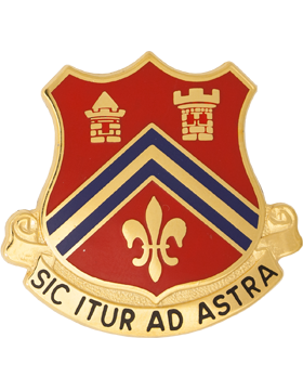 102nd Field Artillery Unit Crest (Sic Itur Ad Astra)