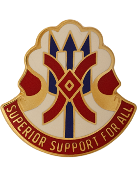 11th4 Support Group Unit Crest (Superior Support For All)