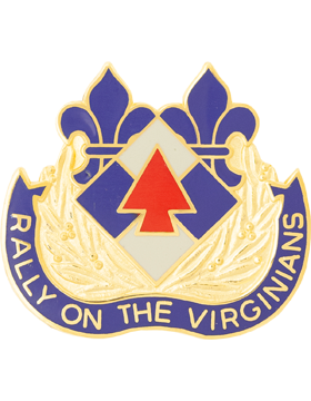 116th Infantry Brigade Combat Team Unit Crest (Rally On The Virginians)