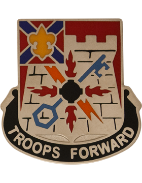 116th Infantry Brigade Special Troops Battalion Unit Crest (Troops Forward)