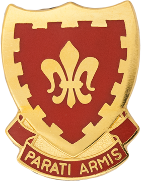 117th Field Artillery Unit Crest (Parati Armis)