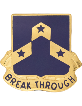 117th Regiment Unit Crest (Break Through)
