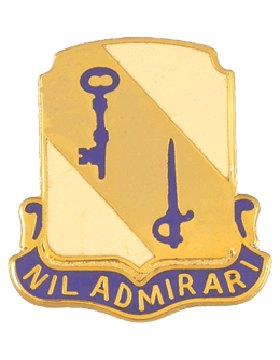118th Support Battalion Unit Crest (Nil Admirari)