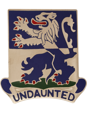 119th Infantry Battalion Unit Crest (Undaunted)