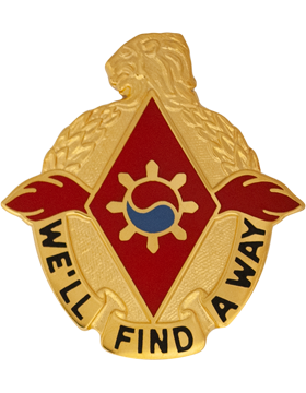 119th Support Battalion Unit Crest (Well FInd A Way)