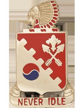 120th Engineer Battalion Unit Crest (Never Idle)