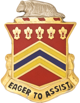 120th Field Artillery Unit Crest (Eager To Assist)
