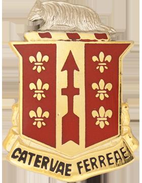 121st Field Artillery Unit Crest (Catervae Ferreae)