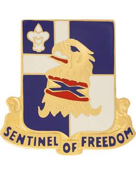 122nd Regiment Unit Crest (Sentinel Of Freedom)
