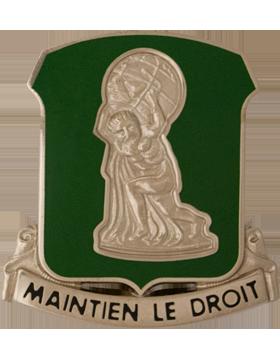 122nd Support Battalion Unit Crest (Maintain Le Droit) small