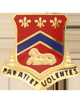 123rd Field Artillery Unit Crest (Parati Et Volentis)