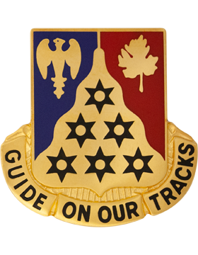 123rd Infantry Unit Crest (Guide On Our Tracks) small