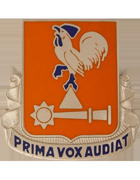 123rd Signal Battalion Unit Crest (Prima Vox Audiat) small