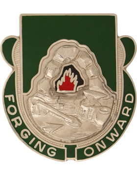 123rd Support Battalion Unit Crest (Forgoing Onward) small