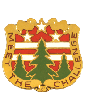 124th Army Reserve Command Unit Crest (Meet The Challenge)