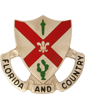 124th Infantry Battalion Unit Crest (Florida And Country) small