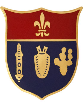 125th Field Artillery Battalion Unit Crest (No Motto) small