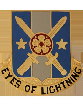 125th Military Intelligence Battalion Unit Crest (Eyes Of Lightning) small