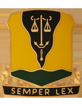 125th Military Police Battalion Unit Crest (Semper Lex) small