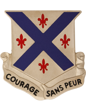 0126 Armor Regt Unit Crest (Courage Sans Peur)