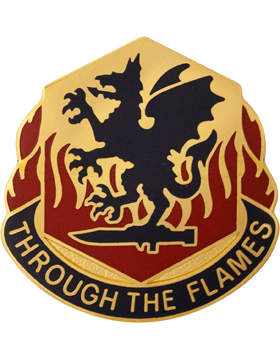 0126 Chemical Battalion Unit Crest (Through The Flames)