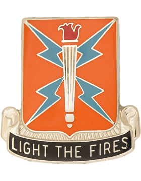 0129 Signal Battalion Unit Crest (Light The Fires)