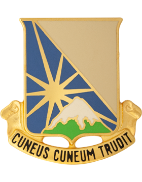 0129 Support Battalion Unit Crest (Cuneus Cuneum Trudit)