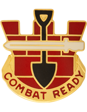 0130 Engineer Brigade Unit Crest (Combat Ready)