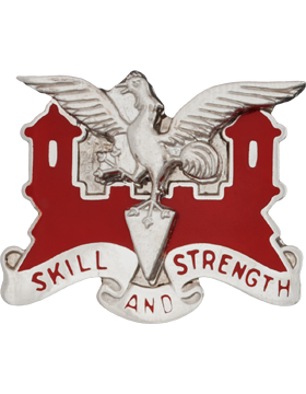 0130 Engineer Bn Unit Crest (Skill And Strength)