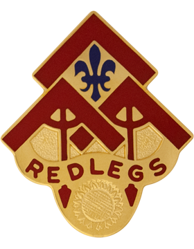 0130 Field Artillery Brigade Unit Crest (Red Legs)