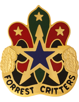 0130 Support Center Unit Crest (Forrest Critters)