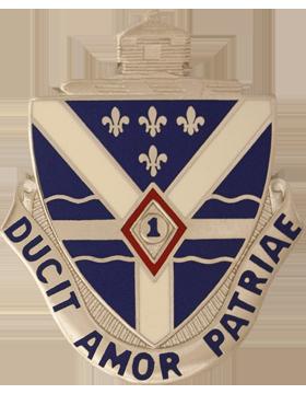 131st Infantry Unit Crest (Ducit Amor Patriae)